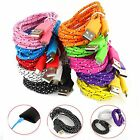 1M 3ft Braided Fabric Micro USB DataSync Charger Cable Cord For Samsung 18a08