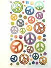 Sticko Sketchy Peace Signs Stickers scrapbooking crafts