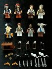 Pirates of the caribbean Captain Jack Sparrow minifigures + 1 random lego fig