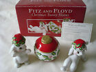2004 Fitz and Floyd Christmas Bunny Blooms Tumblers~3 Piece