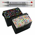 80 Color Twin Tip Pen Marker of Touch Art Sketching Graphic Markers Drawing+ Bag
