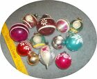 LOT OF 12 VINTAGE GLASS CHRISTMAS ORNAMENTS