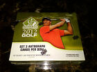 2012 UD SP Authentic Golf Sealed Hobby Box! Tiger Nicklaus Palmer Jordan Auto?!?