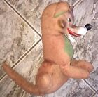 Vintage Rubber Face Plush BIG BAD WOLF Stuffed Animal Toy 1950s