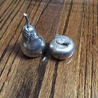 Vintage Kirk pewter Apple And Pear Salt And Pepper Shakers506