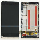 Black Huawei Ascend P6 P6-U06 LCD Display Touch Screen Digitizer Assembly+Frame