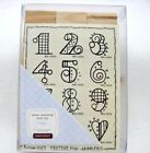 Festive Fun Numbers Font Rubber Stamp Set of 12 New by JRL Design Co