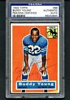 1956 TOPPS FOOTBALL BUDDY YOUNG #96 AUTOGRAPHED CARD PSA DNA CERTIFIED BALTIMORE