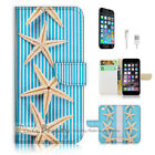 ( For iPhone 7 Plus ) Wallet Case Cover P1868 Starfish