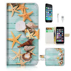 ( For iPhone 7 Plus ) Wallet Case Cover P1869 Starfish