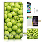 ( For iPhone 7 Plus ) Wallet Case Cover P1886 Tennis Ball