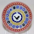 Wonderful BACCARAT 1971 Gridel ROOSTER Silhouette Art Glass PAPERWEIGHT