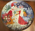 Fitz and Floyd Father Frost and the Celebration of Winter 1st Edition Coll Plate