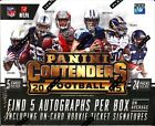 2015 Panini Contenders Football Factory Sealed Hobby Box - 5 Autographs Per Box