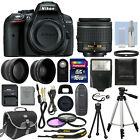 Nikon D5300 Digital SLR Camera + 3 Lens Kit 18 55mm Lens + 16GB Bundle