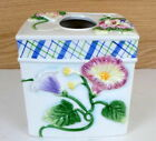 FITZ & FLOYD Halcyon Boutique Porcelain Tissue Box Cover