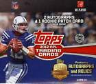 2012 Topps Football Factory Sealed HTA Jumbo Pack Hobby Box - 2 Autos Per Box