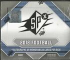 2012 Upper Deck SPX Football Factory Sealed Hobby Box - 4 Hits Per Box