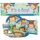 Monkey Boy Baby Shower Party Package for 16 Guests NO TAX