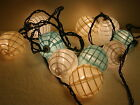 Vintage Patio Party RV Camper Nylon Cloth Fabric String Lights Set