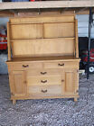 1950s RANCH OAK A. Brandt Co China Hutch Buffet #2971