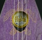 Magic Fluke Co Concert Fluke Model M10 Purple Amethyst Featuring an Turtle