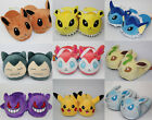 Pokemon Go Pikachu Snorlax Plush Slippers Shoes Sylveon Gengar Warm Indoor Home