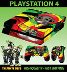 PS4 Skin Rasta Man Dreads Beanie Chilled Weed Sticker New + Pad decal Vinyl LAID
