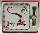 Fitz and Floyd Mingle, Jingle, Be Merry Snack Plate with Spreader - 2006