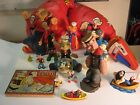 Popeye Lot of various items Bendie figures snow dome Boxing gloves more