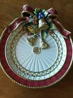 Fitz and Floyd Classic Christmas Deer Canape Plate 9 1/4