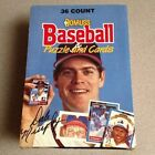 1988 88 DONRUSS Baseball Puzzle and Cards Box NIB 36 Packs leaf GREAT GIFT!