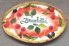 Deruta Pottery-bruschetta Plate made/painted by hand in Italy