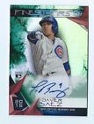 JAVIER BAEZ 2015 Autograph TOPPS FINEST FIRSTS GREEN REFRACTOR Auto RC #d 99