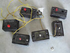 Lot of 6 Vintage S Scale American Flyer Remote Button Controllers