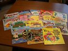 Lot of 17 Vintage Disneyland Record and Book set