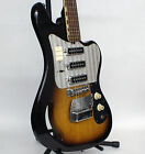 Vintage Sixties Teisco TG-64 Monkey Grip Electric Guitar with Recent Pro Set Up!