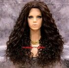 Long Layered Spiral Curls Dark Brown Full Lace Front Wig Heat Ok Hair Piece