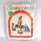 Leisure Arts Plastic Canvas Capers Kit 1982 Nativity Set Vintage Christmas New