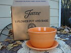 Fiesta Flower Pot Tangerine 2 pc. 1st quality with box Fiestaware