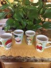 NEW ONEIDA FROSTY FOLKS FIDDLESTICKS MUG COLLECTION SET OF 4 PERFECT CONDITION