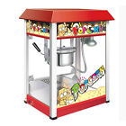 Aluminum Frame Stainless Steel Red Automatic Commerical Popcorn Machine