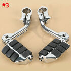Chrome Highway Foot Pegs Footrest 1 1/4