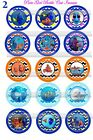 15 Precut Finding Dory Bottle Cap Images for bows  jewelry