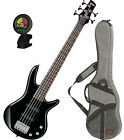 Ibanez GSRM25-BK Black 5-String Mikro Series Electric Bass Guitar w/FREE Ba