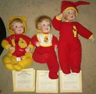 ASHTON DRAKE PORCELAIN DOLLS LOT 3 Whats For Lunch You Need A Hug Bed Pooh