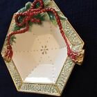Fitz and Floyd Classic Winter Holiday Santa Serving Bowl ~ NEW ~