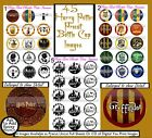45 Precut Harry Potter Icons Crest book Covers characters Bottle cap images