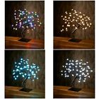 New 64 Led Light Up Bonsai Style Christmas Decoration Tree indoor use 4 colour