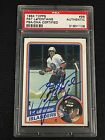 HOF PAT LaFONTAINE 1984-85 TOPPS ROOKIE SIGNED AUTOGRAPH CARD ISLANDERS PSA DNA